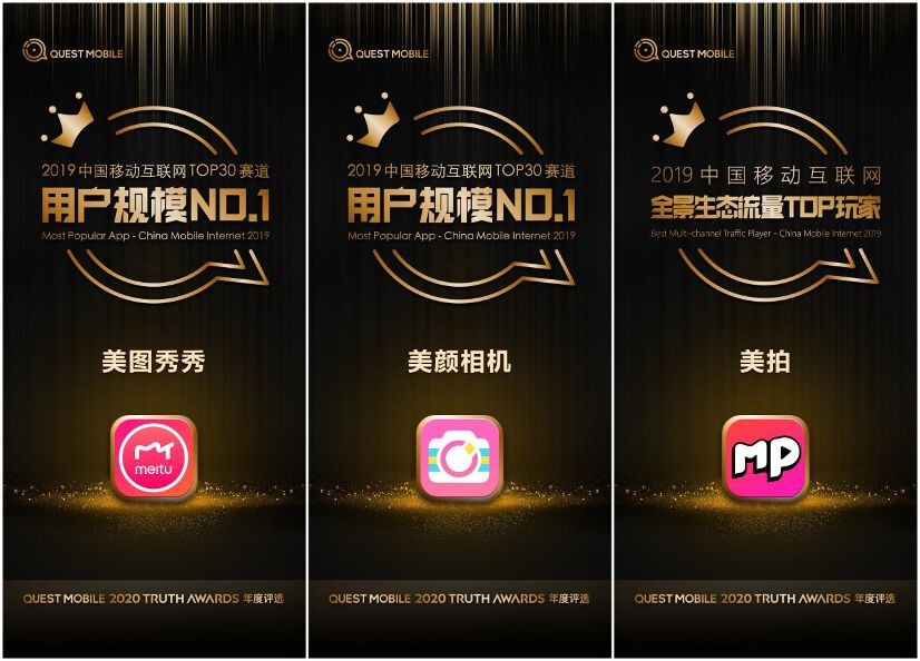 The Meitu App and BeautyCam take the crown and Meipai becomes the newest top panoramic traffic matrix participant